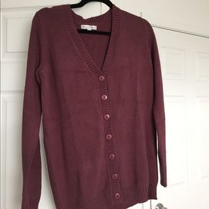 NWOT Modcloth Downeast Maroon Thick Cardigan S